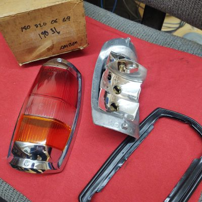 Mercedes W121 Taillight Complete Housing Red/ Amber and gasket NOS 1808200664