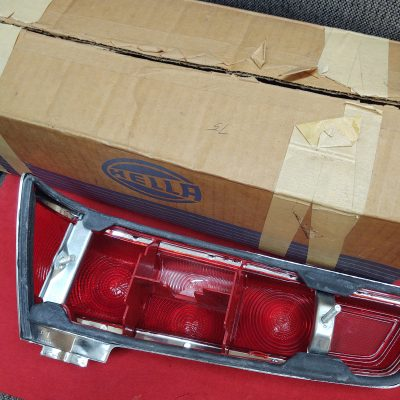 Mercedes W110 Hella Taillight Lens and Gasket NOS left 1108200766