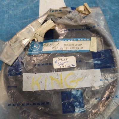 Mercedes Horn Pad Early W111 Chrome Ring 1114600642 NOS Sealed Bag
