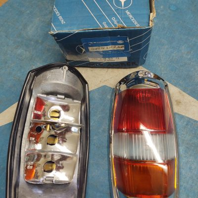 Mercedes W121 Taillight Complete Housing Red/ Clear/Amber + Gasket NOS 1808200371