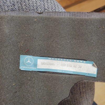 Mercedes R107 Trunk Wall Cardboard Panel 1076900230 NOS