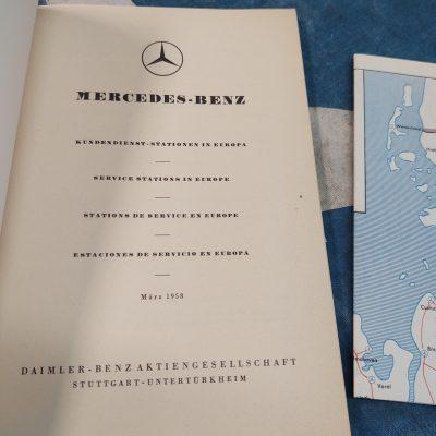 Mercedes Service Station Europe Blue Book 1958 Genuine