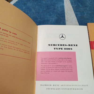 Mercedes W180 220S Owners Manual + Parts Book cat. A 1956