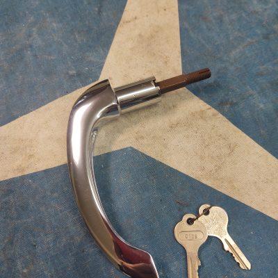 Mercedes W136, W186, W187 300 Adenauer Exterior Door Handle w/ Huff keys NOS