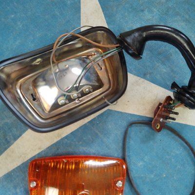 Mercedes W110 Fog Light Complete Assembly Left 1108201120 NOS