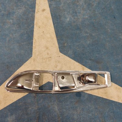 Mercedes R107 560SL Inside Chrome Door Plate 1077660511 Left NOS NLA
