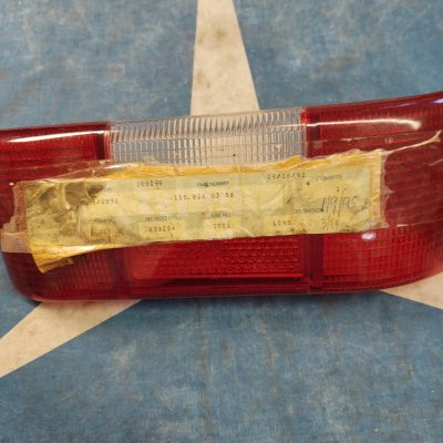 Mercedes W114 Taillight Lens All Red 1158260356 Left NOS NLA