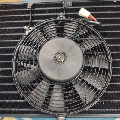 Mercedes W126 Bosch AC Condenser + Fan 0130701028 NOS