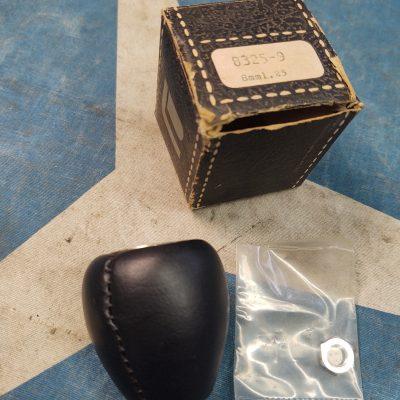Mercedes Vintage Black Leather Shift Knob 8mm NOS