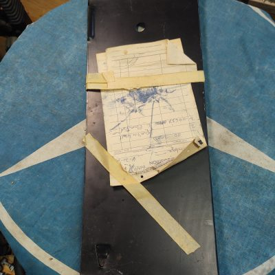 Mercedes W110,W111 Trunk Floor Repair Panel 1106370142 Left Genuine NOS NLA