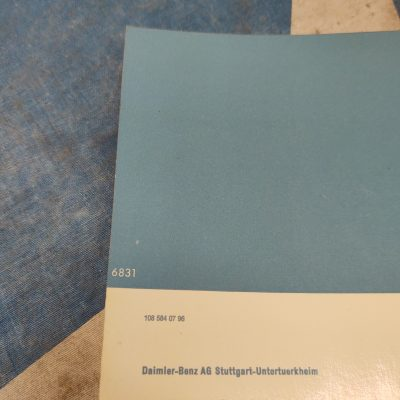 Mercedes W112 300SE Owners Manual 1125840796  -Nr. Mint Cond.