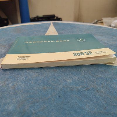 Mercedes W112 300SE Coupe/ Cabriolet Owners Manual in 5 Languages 1125841096   -Nr. Mint Cond.