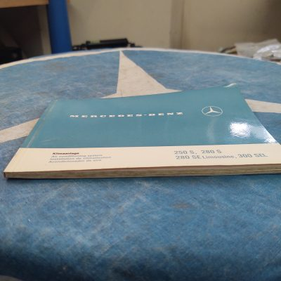 Mercedes W108,W109 Air Conditioning Manual 1088340100 in 4 Languages Ex+ Cond.