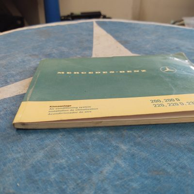 Mercedes W108,W110,W115 Air Conditioning Manual 1158340100 in 4 Languages Ex+ Cond.