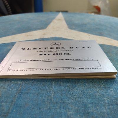 Mercedes 190SL Service Booklet Ed. C 3/56 German Mint Cond.
