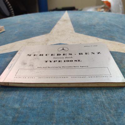 Mercedes 190SL Service Booklet Ed. C 3/57 Ex.+ Cond.