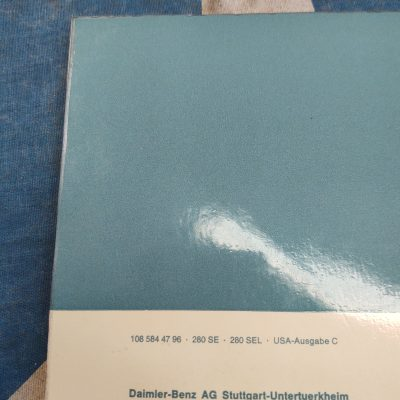 Mercedes 280SE-280SEL /8 Owners Manual 1085844796 Ex+ Cond.