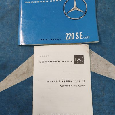 Mercedes 1961 220SE Coupe Owners Manual Package German and English