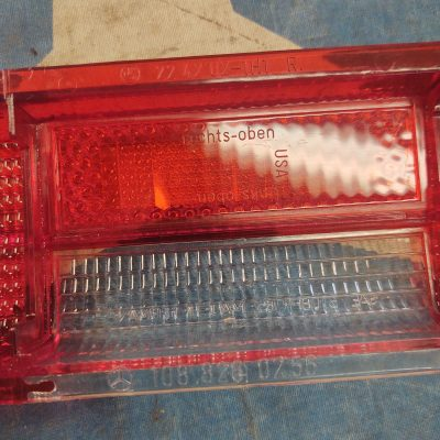 Mercedes W108,W109 Taillight Lens All Red 1088260256 Right NOS