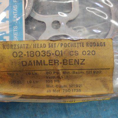 Mercedes M121, W121-190SL, 190b  Reinz 02-18035-01 Head Gasket Kit 1215865990 NOS sealed