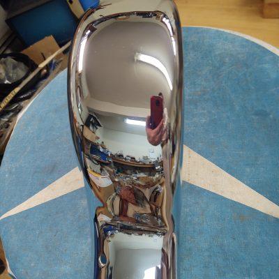 Mercedes W180 220S/SE Cab. Rear Bumper Corner 1808800472 Right Excellent cond.