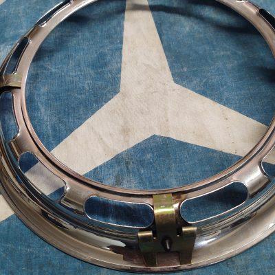 Mercedes W110, W111 Chrome 14 in. Wheel Ring 1114010024 NOS