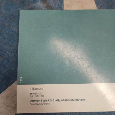 Mercedes W113 230SL English and German Owners Manual 1135840596 NOS